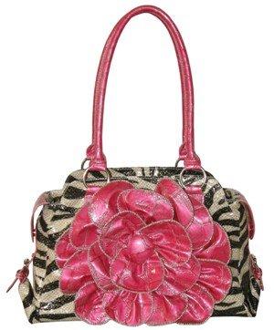 Glittery Zebra Print Handbag