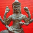 Rare Antique Khmer Angkor Buddha Statue Bronze Old