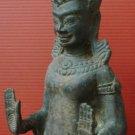 Asian Vintage / Antique Khmer Angkor Brass Buddha Statue Cabodian Amulets