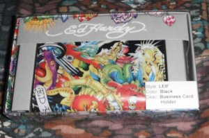Brand New Authentic Ed Hardy Business Card Holder/Wallet