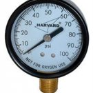 "American Granby 1/8"""" MPT Lower Pressure Gauge - Steel Case"