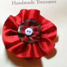 Christmas Flower Lapel Pin and Hair Clip