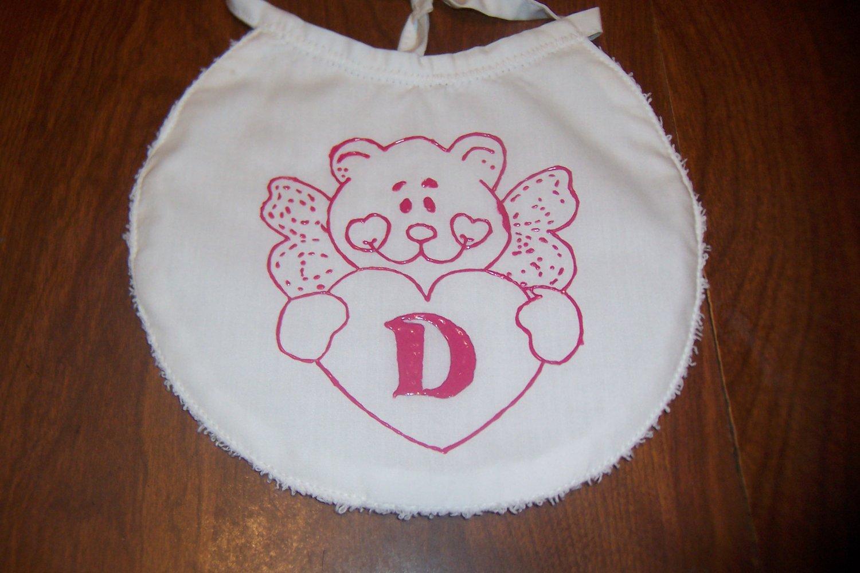 Angel Bear Monogrammed Bib