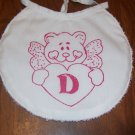 Angel Bear Monogrammed Bib