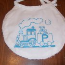 Toy Train Monogrammed Bib