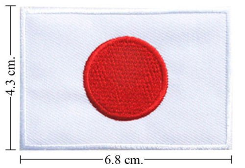 JAPAN NATION FLAG IRON ON PATCH
