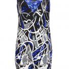 French Connection Faulk's Sequin Dress Black Blue 8-14