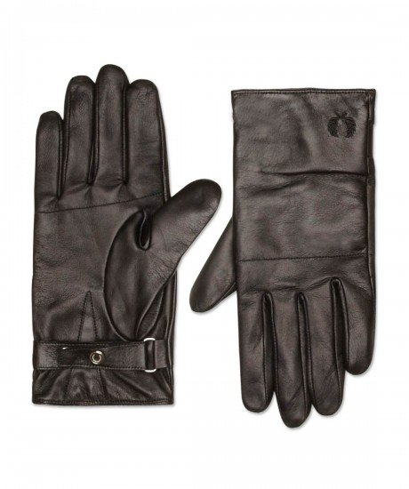 Fred Perry Black Leather Gloves Boxed