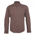 Merc Indie Brown Polka Dot Slim Fit Button Down Shirt Mod RRP £55 M L XL XXL