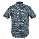 Merc Garrett Fitted Slim Fit Floral Shirt Navy Mod BNWT RRP£55 S M L XL