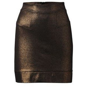 French Connection Midnight Copper Foil Bodycon Stretch Mini Skirt was £50