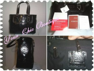 Coach Black 2007 Patent Leather Tote