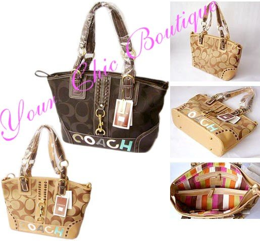 Coach 2007 Signature Shoulder Tote