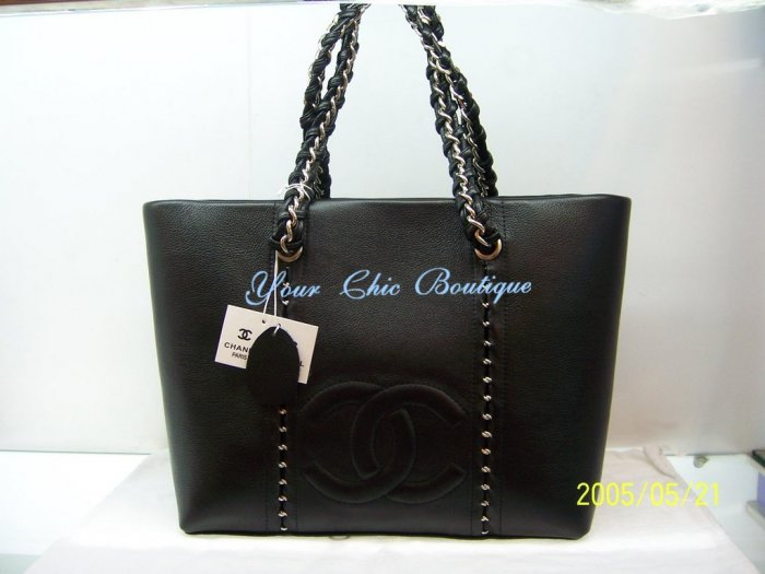 Chanel Black Caviar Shoulder Tote - Large