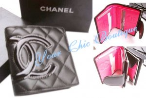 Chanel Black Caviar Quilted Wallet
