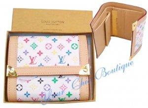 LV Multicolor Tri-fold Wallet