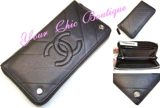 Chanel Caviar Zipper Wallet
