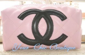 Pink Chanel Cosmetic Bag