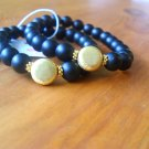 Matte Black Onyx with gold accent