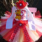 Winnie the Pooh Birthday Tutu 3 piece set: Embroidered shirt, tutu, headband