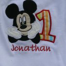 Mickey Embroidered Birthday Shirt