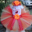 Elmo Birthday Tutu 3 piece set: embroidered shirt, tutu, headband