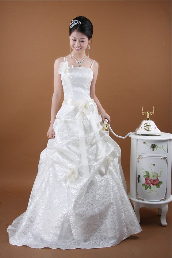 Custom Made- Ball Gown Strapless Wedding Dress White Cocktail Bridesmaid Ball Prom Gown
