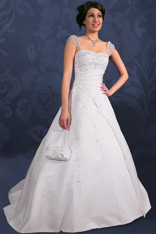 Custom Made- Beads Embellished Embroidery Wedding Dress Cocktail Bridesmaid Ball Prom Gown S3