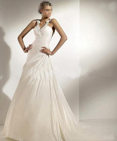 Custom Made- Beads Embellished Fashion Design Wedding Dress Cocktail Bridesmaid Ball Prom Gown S3