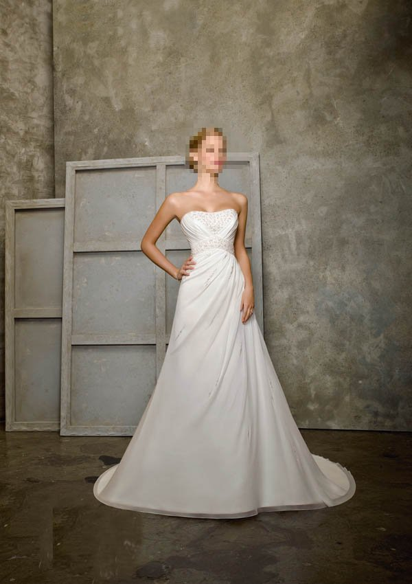 Custom Made- Beads Embellished design Strapless Wedding Dress Cocktail Bridesmaid Ball Prom Gown S6