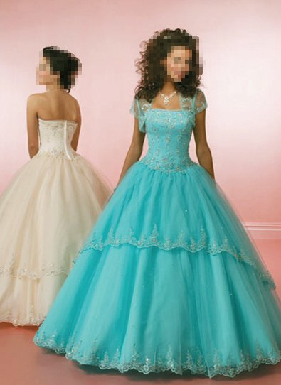 Custom Made- Beads Embellished Strapless Sexy Wedding Dress Cocktail Bridesmaid Ball Prom Gown