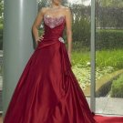 Custom Made- Bead Embellish Strapless Sweetheart Wedding Dress Cocktail Bridesmaid Ball Prom Gown Y