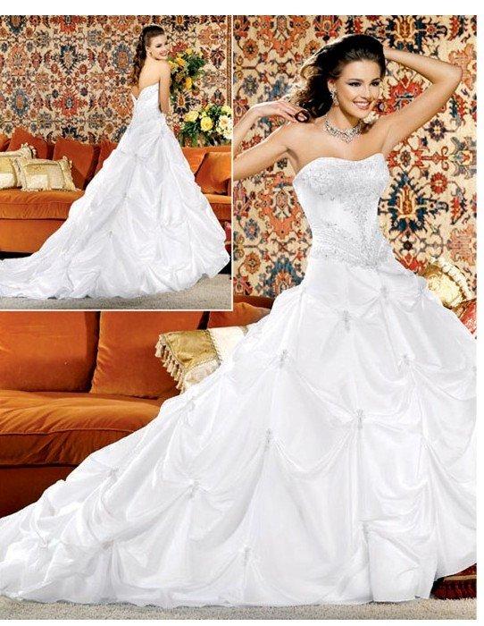 Custom Made- Bead Embellish Tube Long Hem Wedding Dress Cocktail Bridesmaid Ball Prom Gown Y