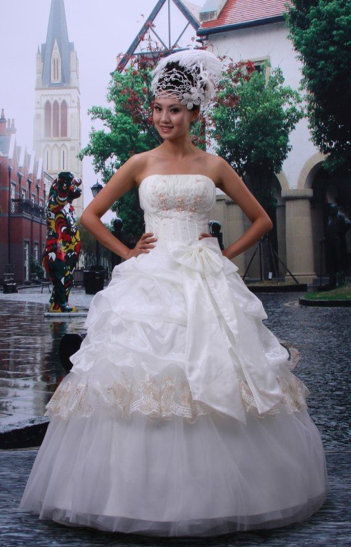 Custom Made- Bowknot Strapless Sexy Wedding Bride Dress Cocktail Bridesmaid Ball Prom Y3