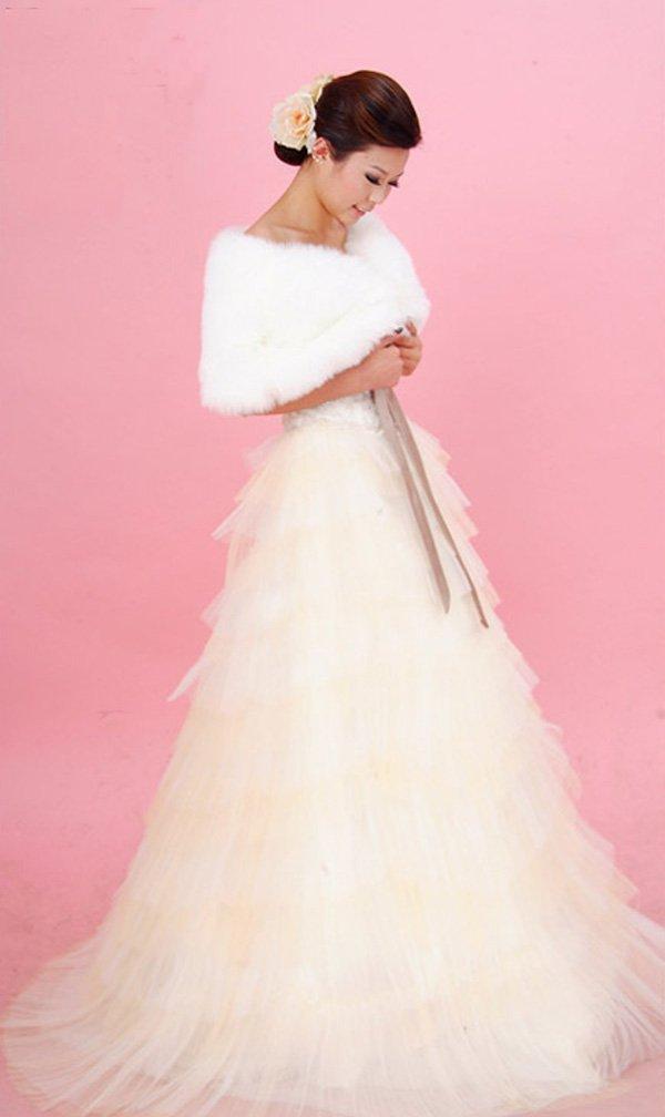 Custom Made- Long Ribbon Tube Yarn Formal Wedding Bride Dress Cocktail Bridesmaid Ball Prom