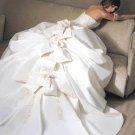 Custom Made-Bowknots Embellish Corset Princess Wedding Bride Dress Cocktail Bridesmaid Ball Prom