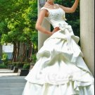 Custom Made- Bowtie Waist Bubble Style Wedding Bride Dress Cocktail Bridesmaid Ball Prom