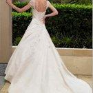 Custom Made- Cape Sleeve White Sexy Wedding Bride Dress Cocktail Bridesmaid Ball Prom