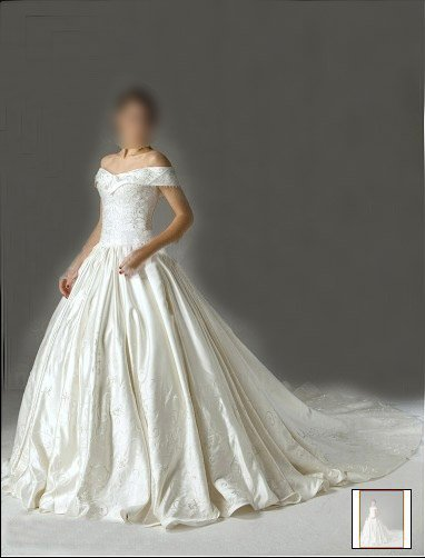 Custom Made- Cathedral Train Off-shoulder Wedding Bride Dress Cocktail Bridesmaid Ball Prom