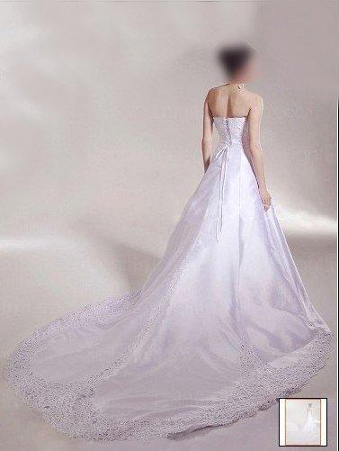Custom Made- Chapel Train Shimmer Luxury Wedding Bride Dress Cocktail Bridesmaid Ball Prom Y