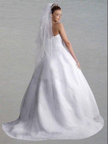 Custom Made- Chapel Train Zip sleeveless bubble Wedding Bride Dress Cocktail Bridesmaid Ball Prom Y