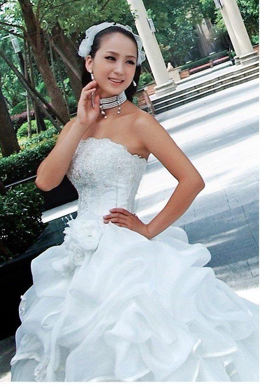 Custom Made- Charming Sequin Embellish Sexy Wedding Bride Dress Cocktail Bridesmaid Ball Prom Y