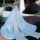 Custom Made- Bowknot Zip Back Off-Shoulder Wedding Bride Dress Cocktail Bridesmaid Ball Prom Y
