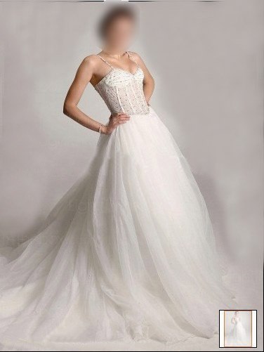 Custom Made- Court Train Organza Tiered Strap Wedding Bride Dress Cocktail Bridesmaid Ball Prom Y