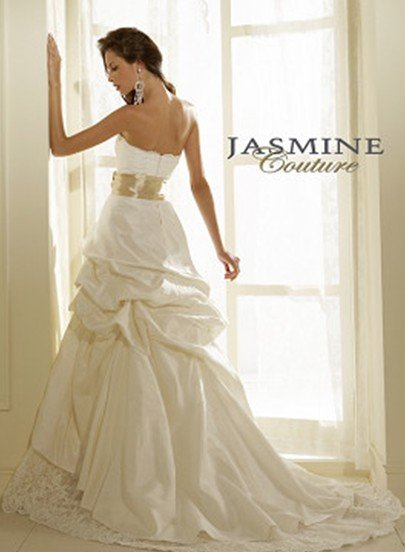 Custom Made- Lace Embellish Bowknot Ruffled Wedding Bride Dress Cocktail Bridesmaid Ball Prom Y