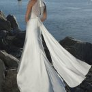 Custom Made- Deep V-Neck Pleated Halter Sexy Wedding Bride Dress Cocktail Bridesmaid Ball Prom Y