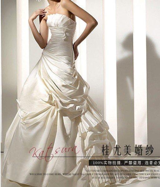 Custom Made- Elegant Pleated Off Shoulder Wedding Bride Dress Cocktail Bridesmaid Ball Prom