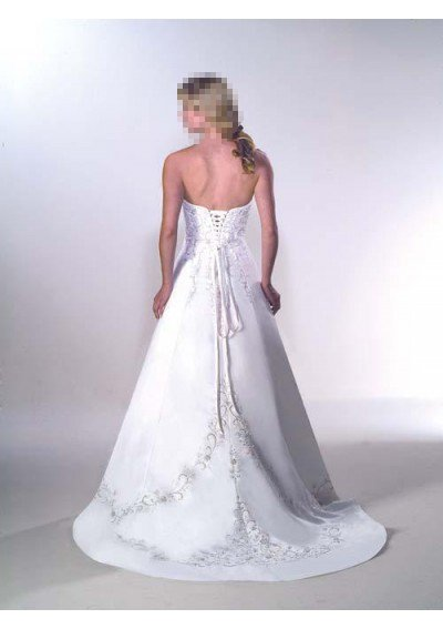Custom Made- Embroidery Bead Embellish Strapless Wedding Bride Dress Cocktail Bridesmaid Ball Prom3