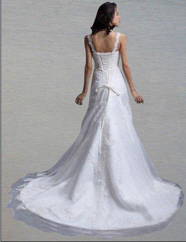 Custom Made- Embroidery Floor-Length Lace Hammock Wedding Bride Dress Cocktail Bridesmaid Ball