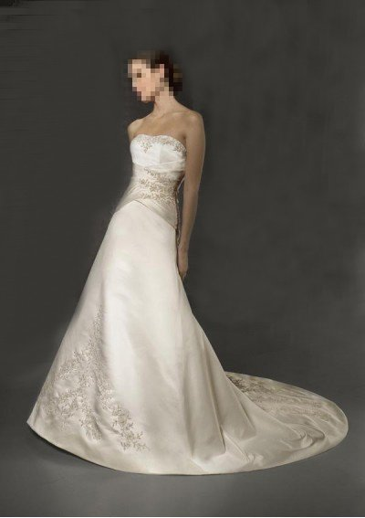 Custom Made- Embroidery Strapless Floral Sexy Wedding Bride Dress Cocktail Bridesmaid Ball Prom S2